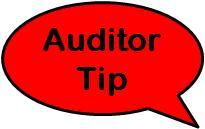 Auditor Tip